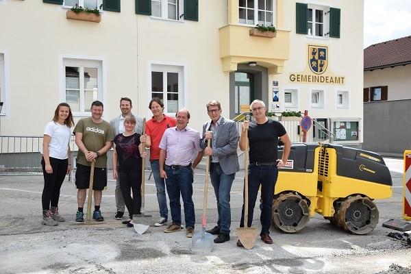 @Gemeinde Bad Häring Spatenstich Dorfplatz