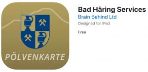 Link zur Pölvenkarte App , Bad Häring Services App , IOS, Android   (c)Bad Häring